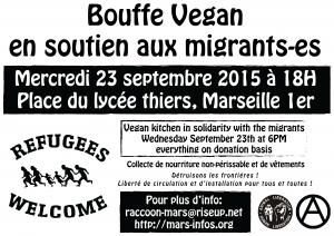 soutien migrant vegan